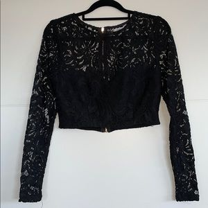 Pilgrim Long sleeve, cropped lace top